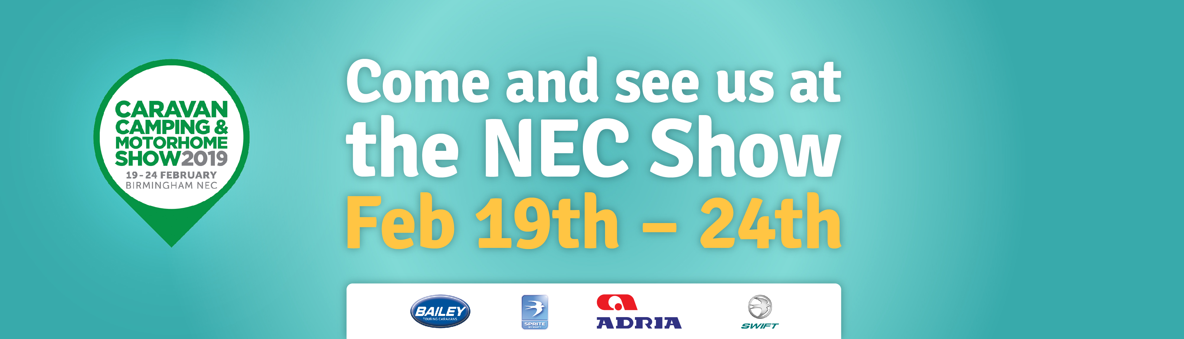 Come at see us at NEC feb 2019