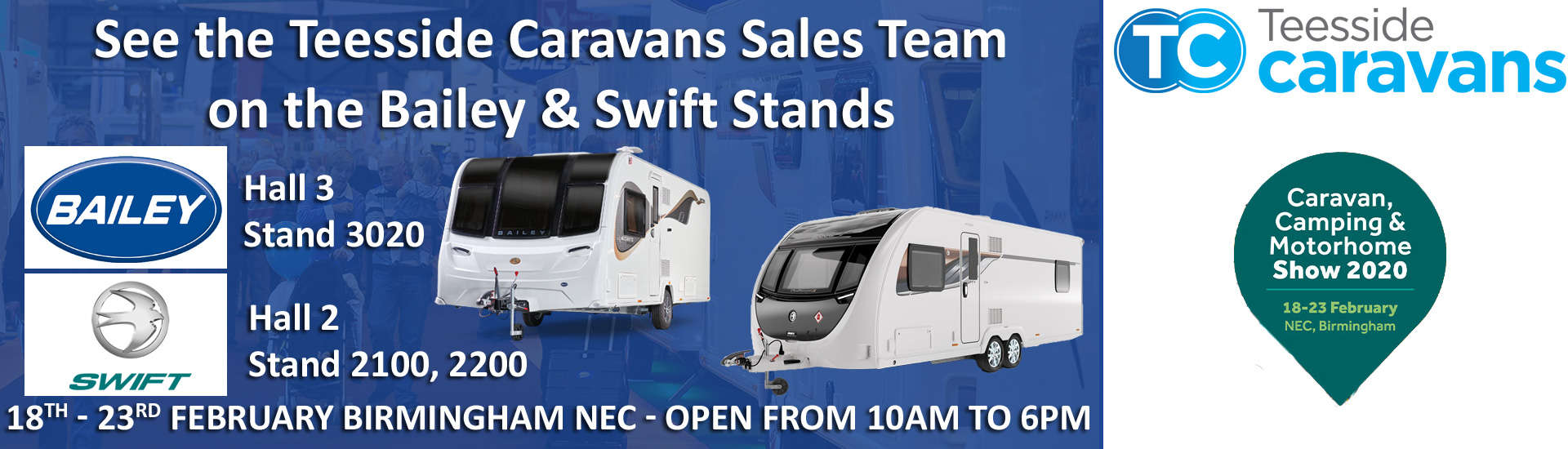 Teeside Caravans on 2020 Caravans and Camping Show