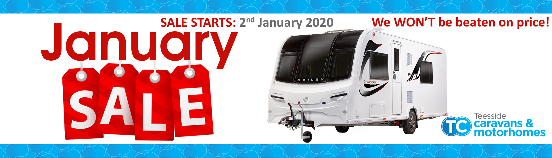 Teeside Caravans 2020 January Sale