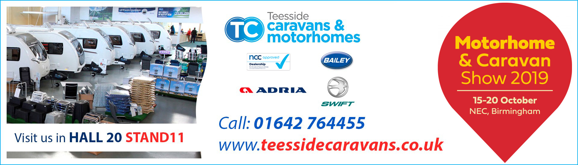 Join Teeside at the 2019 NEC Caravan and Motorhome Show