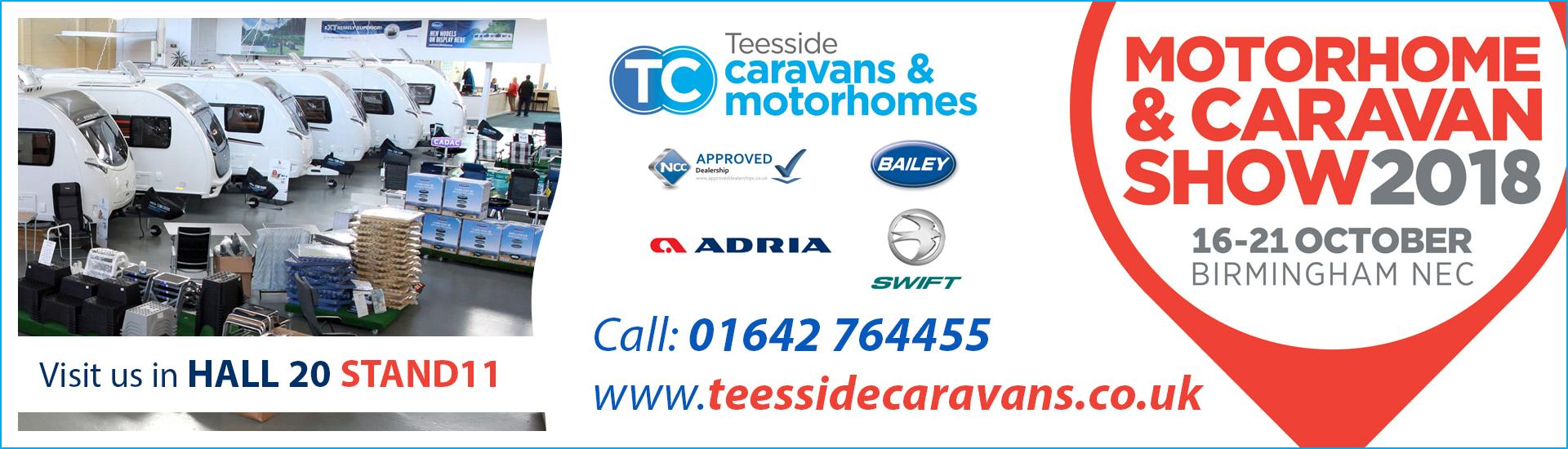 Teesside Caravans at Motorhome and Caravan Show 2019