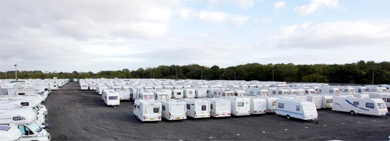 Caravan secure storage at Teesside Caravans