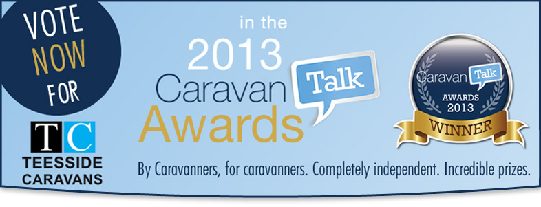 Vote for Teesside Caravans, Caravan Talk Awards